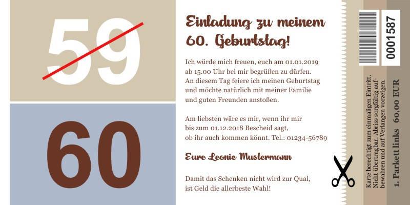 Originelle Einladungskarten 60 Geburtstag Persönliche Einladungen